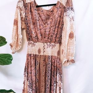 Free People long floral dress. Size L